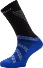 Witte Enforma Londres hardloopsokken - Sportsokken - Zwart/Blauw - L (42-44)