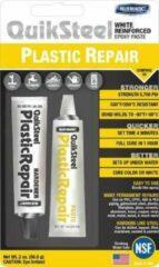 Quiksteel 17502+, Vloeibaar Plastic & Quiksteel ontvetter in Pompverstuiver Flacon, de beste combinatie tbv de sterkste verbindingen in alle Kunststoffen en metalen, kleur Wit!