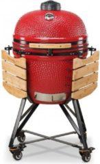 BONO Kamado Media 52cm (rood) - grill - rook - stoof - levenslang garantie op keramiek