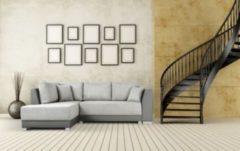 Baidani Designer Sofa m. Schlaffunktion Brandon grau