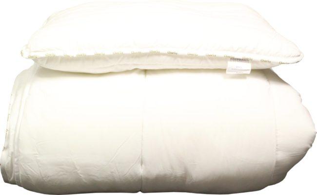 Afbeelding van Witte Polydaun CHARLY - Kinderstarterset dekbed + hoofdkussen -Kunstvezel - 140x200 cm + 50x65 cm
