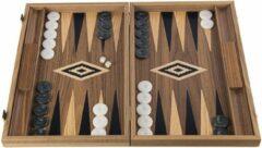 Manopoulos American Walnut Backgammon - 48 x 30 cm Top Kwaliteit