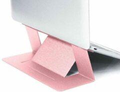 Opline Laptops tandaard Verstelbare laptop computer stand Multi-hoekstandaard Tablet standaard Draagbare opvouwbare laptop verhoger Notebook houder standaard compatibel voor 9,7 tot 15,6-inch laptops - Licht roze