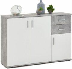 FD Furniture Dressoir Albi 120 cm breed - Grijs beton met wit