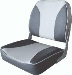 Antraciet-grijze FES Opklapbare bootstoel klapstoel antraciet/grijs met lage rugleuning