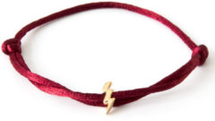 Caviar Collection Armband / Enkelbandje Neon Bordeaux Red X Lightning Gold