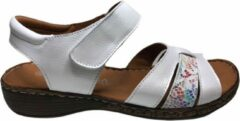 Manlisa velcro dames sandaal S245-399 wit mt 37
