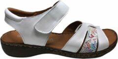 Manlisa velcro dames sandaal S245-399 wit mt 37