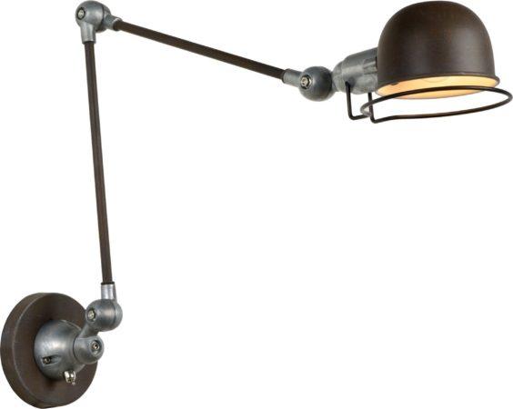 Afbeelding van Lucide Prachtig antieke wandleeslamp Honore Lucide 45252/11/97