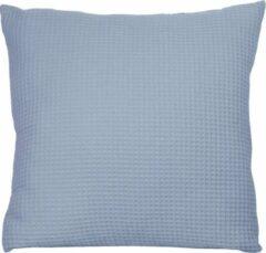 Blauwe BINK Bedding Sierkussen Wafel (Pique) Dusty 50 x 50 incl vulling
