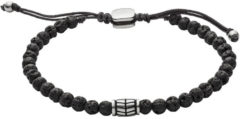 Zilveren Fossil Vintage Casual Mannen Armband JF02887040
