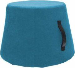 Rox Living Poef 45 X 37 Cm Polyurethaan/fluweel Lichtblauw