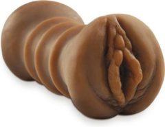 Huidskleurige Pipedream Extreme Toyz Masturbator Flip A Sista Over -14 cm - Bruin