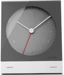 Grijze Jacob Jensen 340 Wekker 12,5 x 10,3 cm