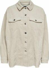 Beige ONLY ONLBITTEN LIFE CORD SHIRT PNT Dames T-Shirt - Maat L