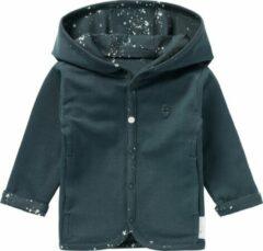 Noppies baby reversible vest Bonny donkergroen/wit
