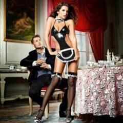 Zwarte Baci Lingerie Baci At Your Service Huishoudster Set - One Size - Lingerie
