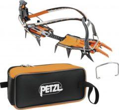 Grijze Petzl Lynx stijgijzers Leverlock Universel grijs/oranje
