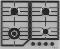 Roestvrijstalen Wiggo WH-G634RL(X) Serie W Inbouw gaskookplaat met Wok 60cm