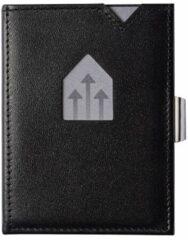 Zwarte Exentri Leather Wallet RFID black Dames portemonnee