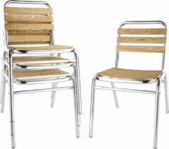 Zilveren Bolero aluminium en essenhouten stoelen - 4