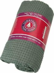 Yogi & Yogini Yoga handdoek PVC antislip grijs 183x65 cm