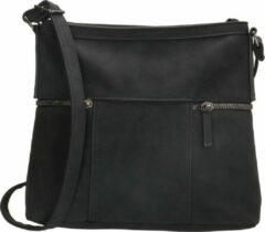 Beagles bainas schoudertas - 18684 - zwart - dames schoudertas - tas vrouwen - tas vrouw - tassen vrouwen - tassen dames - dames schoudertas
