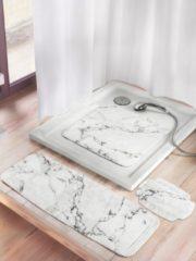 Duscheinlage 'Marmor' Kleine Wolke weiß/grau marmoriert