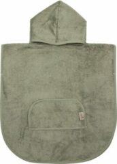 Timboo poncho Whisper groen - Bamboe - Extra zacht - Handdoek - 1/4 jaar - Mint groen