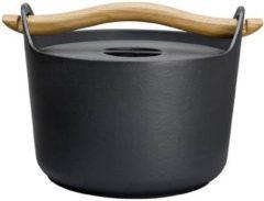 Zwarte Iittala Sarpaneva Braadpan - met Houten Handvat - 3,0 l