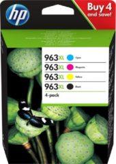 HP Cartridge 963XL Multipack Origineel Combipack Zwart, Cyaan, Magenta, Geel 3YP35AE Cartridge multipack
