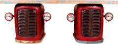 SIT Möbel Schreibtisch rot/ bunt Traktor Kühlergrill mit Stauraum Sit-Möbel This & That