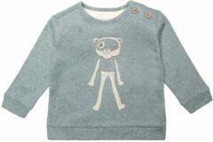 Moodstreet Petit baby gemêleerde sweater Maddy van biologisch katoen groen/wit
