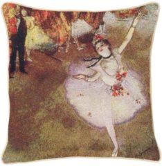 Roze Signare Kunst kussenhoes Edgar Degas: Ballerina (1) Sierkussenhoes Gobelinstof