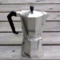 Basic Nature - Espresso Maker Bellanapoli maat 9 Tassen, alu natur