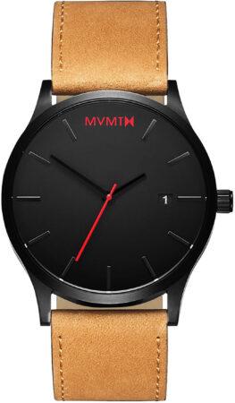 Afbeelding van MVMT Classic Black Tan L213.5L.351 - Horloge - Leer - Tan - 45mm
