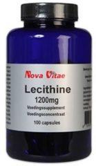Lecithine 1200 mg van Nova Vitae : 100 capsules