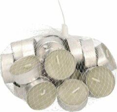 Witte Trend Candles 30x Geurtheelichtjes katoen/grijs 4 branduren - Geurkaarsen katoenbloesem bloemengeur - Waxinelichtjes