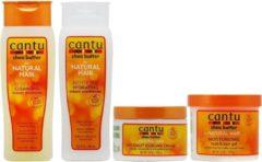 Cantu Cleansing Shampoo + Hydraterende Conditioner + Kokos Curling Crème + Twist & Lock Gel Set