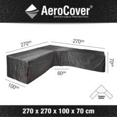 Grijze Aerocover Loungesethoes big corner - L-vorm - L 270 x L 270 x B 100 x H 70 cm