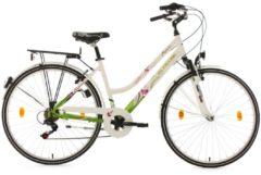 Cityrad, Damen, KS Cycling, »Papilio«, weiß, 28 Zoll 6 Gang Shimano Tourney, Alu V-Brakes