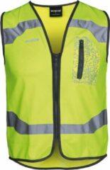 WOWOW Drone veiligheidsvest met rits - voor fietsen hardlopen wandelen - maat S - geel