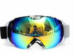 Improducts Skibril met lens geel blauw evo frame wit X type 5 - ☀/☁