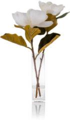 Beige Fleurange Magnolie in Glasvase