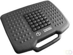 Zwarte DESQ anti-slip voetensteun - in hoogte verstelbaar, 0-30 graden kantelbaar