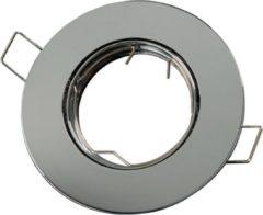 Groenovatie LED line Inbouwspot - Rond - RVS Look - GU10 Fitting - Ø 92 mm - Satijn