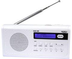 Xoro DAB 100 DAB+ Transistorradio FM Wit