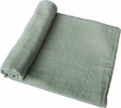 Mushie zachte grote Hydrofiel doek / Tetradoek   120 x 120 cm   Sage  Salie groen
