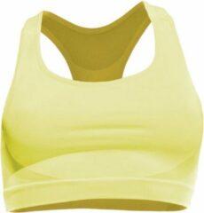 Iron-IC sportbeha dames polyamide/ elastaan geel maat L/XL