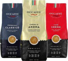 Occaffe O'ccaffè - Italiaanse koffiebonen Proefpakket | 3 x 250gr | Barista kwaliteit
